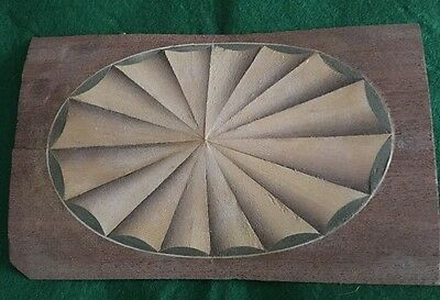 "Large Oval Fan , Inlay , 6""x4"" no1"