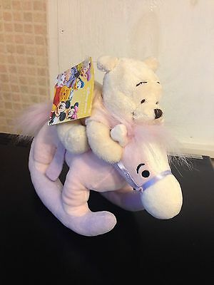 Disney Store Exclusive 9 Inch Winnie The Pooh Rocking Horse Plush Toy With Tag