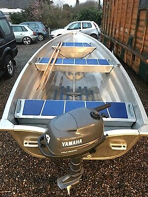 14ft Aluminium fishing boat, Day boat, outboard engine