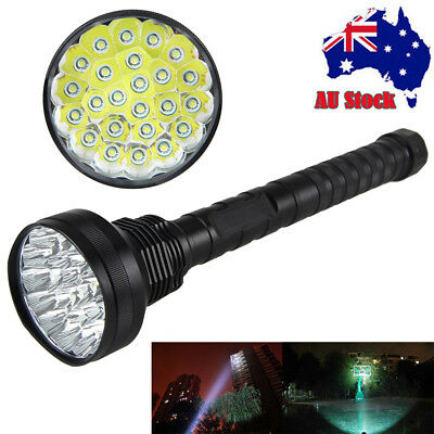 40000LM 24xXML T6 LED Waterproof Flashlight Light Torch 4x18650/26650+AU Charge