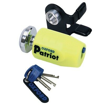 Oxford Patriot Ultra Strong Disc Lock Motorbike Motorcycle THATCHAM Approved