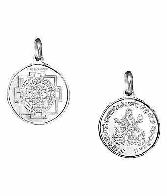 Shree Yantra Pendant Pure Silver 999 Blessed And Enerigized Locket Charm