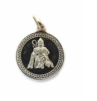 Hanuman Yantra Pendant In Pure Silver 999 Blessed And Enerigized Locket Charm