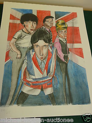 THE WHO .Vic Reeves  original ,SIGNED PRINT from Edition of only 25