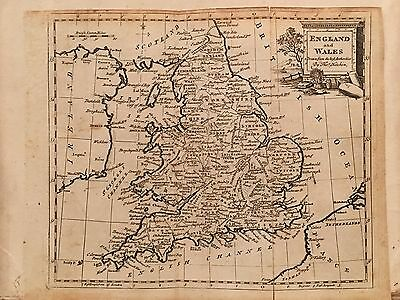 1787 England & Wales Original Antique Map By Thomas Kitchin 229 Years Old