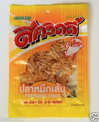 1 x 23 G. SQUIDY Prepared Squid Tasty and Thai Delicious Snack Spicy Savoury