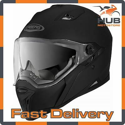Caberg Stunt Full Face Motorcycle Motorbike Crash Helmet - Matt Black