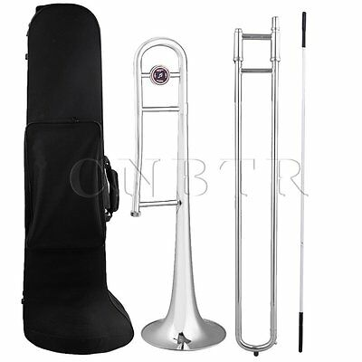 Silver Nickel Plating Erass E Flat Ee Alto Trombone with Cleaning Rod