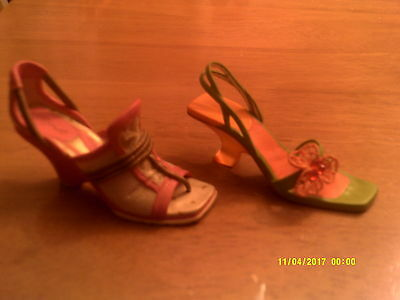 2 JUST THE RIGHT SHOE- COLLECTIBLE SHOES BY RAINE Summer Bloom/No Limits