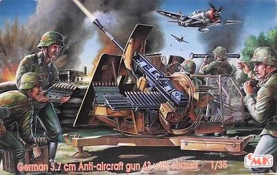 1:35 CMK  #T35005 German 3 7cm Anti Aircraft Gun 43 with Chassis