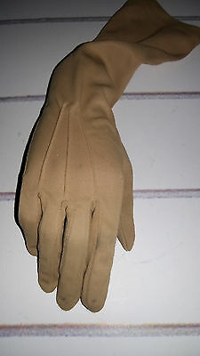 Vintage 1960's Brown Long Evening Gloves by DENTS. Size 7.5.