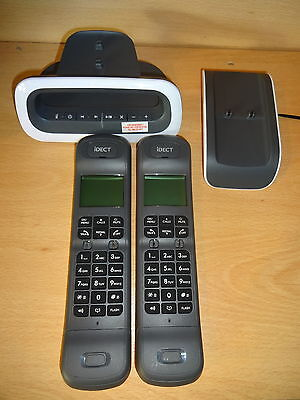 iDECT Loop Plus Call Blocker TWIN Cordless Phone Answer Machine GREY/White -UB