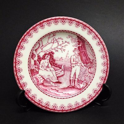 Spode Pin Dish - Archive Collection, Georgian Series - The Woodman - Cranberry