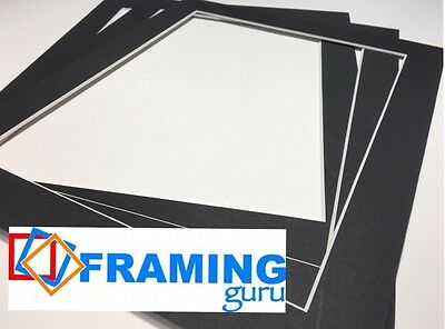 Picture And Photo Mounts in Black / White Core Professional Computer Cut Boards