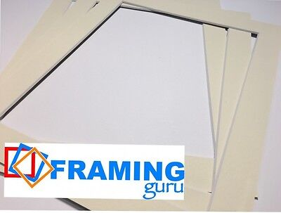 Picture And Photo Mounts in Ivory / White Core Professional Computer Cut Boards