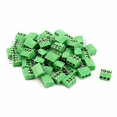 50pcs 3 Position 3.5mm Pitch PCB Screw Terminal Block Connector