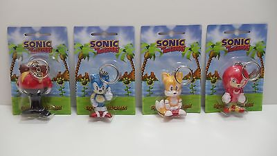 Sonic The Hedgehog Squeeze Keychains Eggman Sonic Tails Knuckles