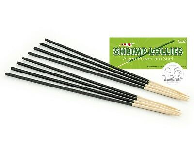 10 Shrimp Lollies  - Feeding Treat Algae Sticks for Crystal Cherry Tiger Shrimp