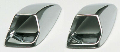 2x Chrome Car Screen Wash Vent Covers Self Adhesive Bonnet ABS Plastic Silver