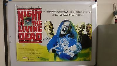 Night of The Living Dead Original UK Quad Movie Film Poster 1990 George Romero