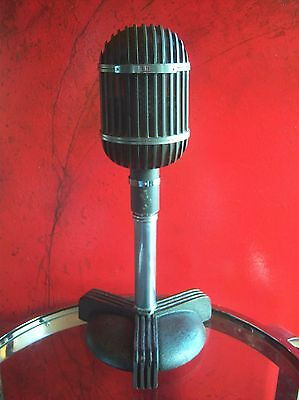 Vintage RARE 1950s Altec Lansing 639B ribbon microphone Western Electric w stand