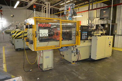 90 Ton, 5.6 Oz. Husky Injection Molding Machine