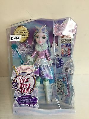 Ever After High Crystal Winter Doll Brand New Box Damaged