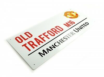 Man Utd Metal Street Road Sign Wall Decor Old Trafford M16 Gift Official