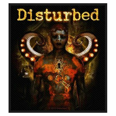 Disturbed Standard Patch Guarded Woven Sew On Official Band Rock