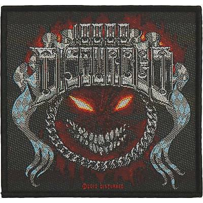 Disturbed Standard Patch Chrome Smiley Woven Sew On Official Band Rock