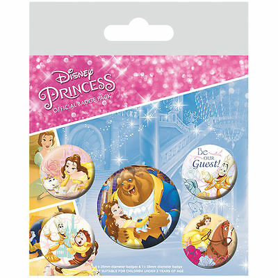 Beauty and the Beast Classic Badge Pack Disney Princess Rose Gift Girl Cute