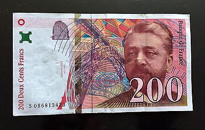 France, French Banknote, 200 Francs 1999, Gustave Eiffel 1832-1923