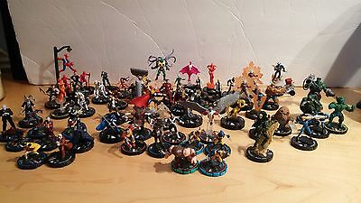 Large lot of Heroclix Marvel and DC figures for sale