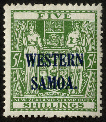 Samoa - SG 208 - 1945-53 - 5s. green - Mounted Mint/Mint Hinged