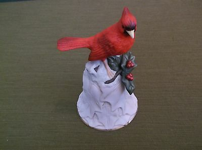 2000 Avon Fine Collectables Cardinal and Flower Bell