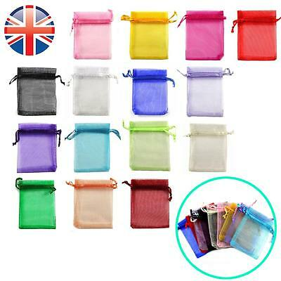 *UK Seller* 7 x 9cm Organza Wedding Favour Candy Jewellery Gift Bags Pouches