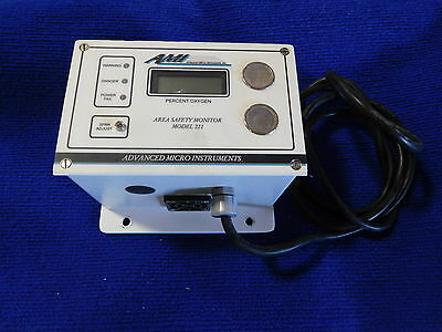 AMI Advanced Micro Instruments 221 New Oxygen Deficiency Area Safety Monitor