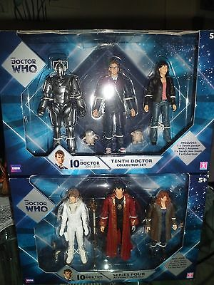 6 doctor who boxed figures B&M exclusives rare, 10th donna sarah jane new set 5""
