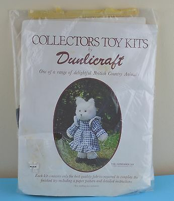 Vintage Make A Toy Craft Kit Collector Dunlicraft Country Animal Constance Cat