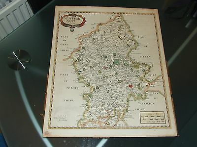 Reproduction - Old Map of Staffordshire by Rob Morden