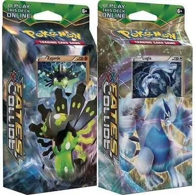 POKEMON XY FATES COLLIDE * Theme Deck Set of 2 Lugia & Zygarde