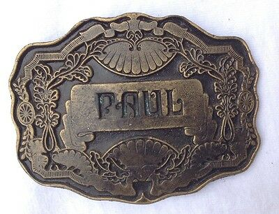 Paul Name  Belt Buckle American Vintage Classic Retro Country Western