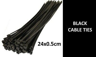 CABLE TIES 240mm x 5mm Nylon Plastic Electrical Zip Tie  - 2000/1000/500/100