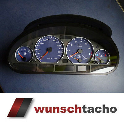 Speedometer dial BMW E46 Blue Alpin 300Kmh Petrol Tacho need Adjusted werden