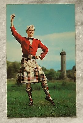 Colourmaster International POSTCARD - HIGHLAND FLING, Scotland