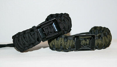 Adjustable Double Cobra Braid Paracord Bracelet w/ Bottle Opener - Made in USA