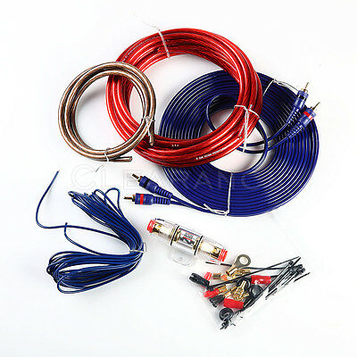8 Gauge Amp Kit Amplifier Install Wiring Complete 8 Ga Installation Cables 800W