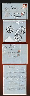 1863 Italy  Cover Sent On 20 September From Genova  To Rouen France