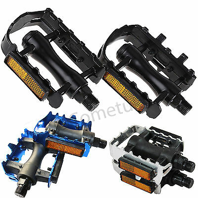 """1x Pair Bike Bicycle Pedals Mountain BMX MTB Adult Reflector Cycling Pedal 9/16"""""""