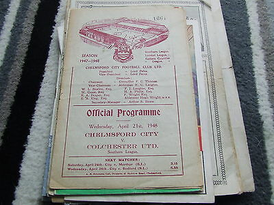 Chelmsford City V Colchester United 1947-8 Southern League